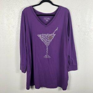 Cacique Lane Bryant Plus Size 18 20 Sleepshirt